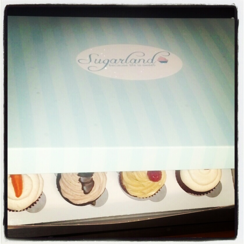 Sometimes, when karma is on our side.. we are gifted with some of the most delicious cupcakes ever created. Thanks Sugarland!