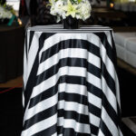Black & White Satin Stripe