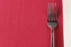 Red Spun Polyester