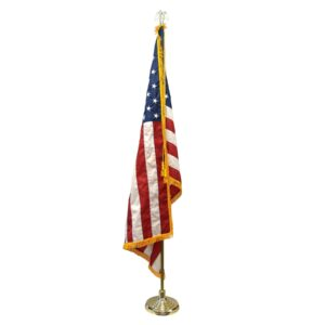 USA Flag with Pole & Stand