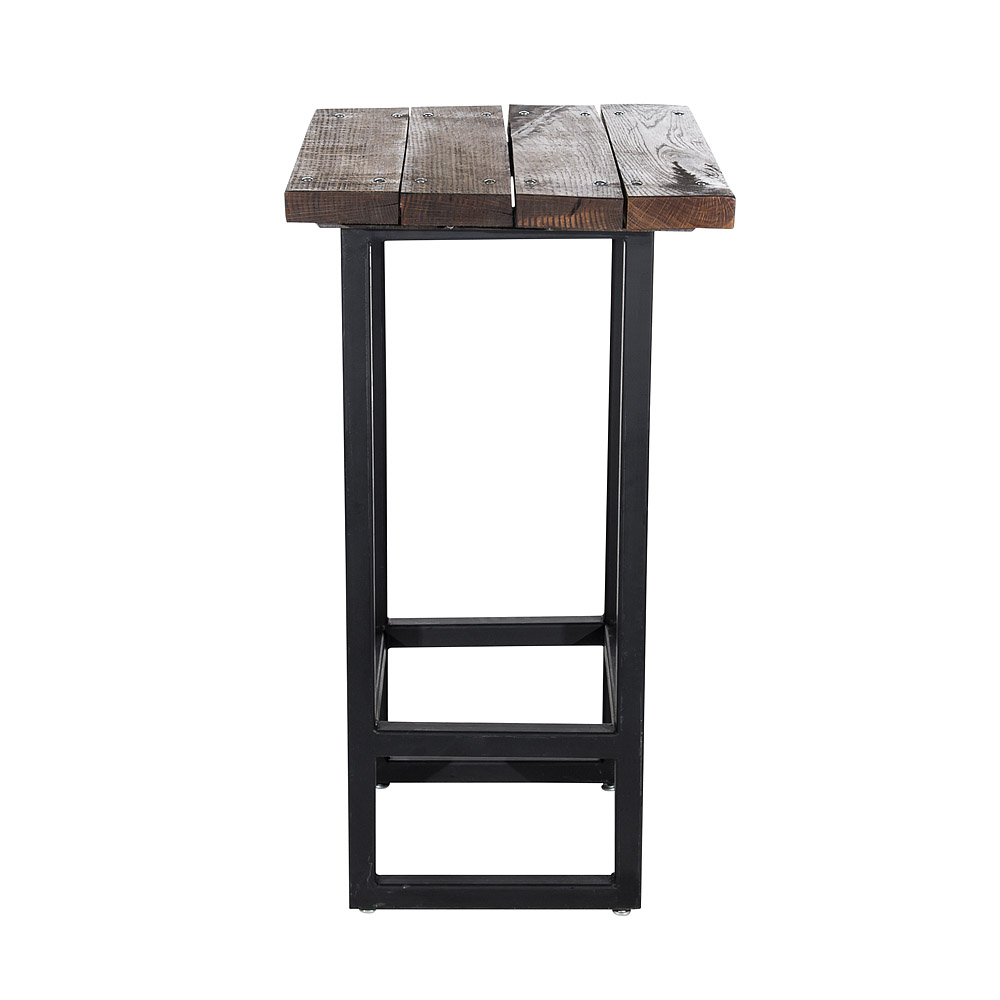24 Inch Square Rustic Plank Cocktail Table