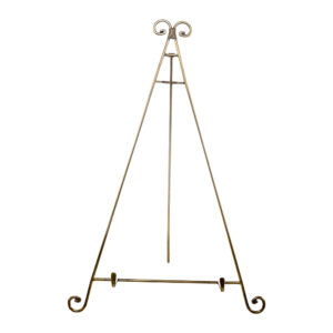 25 Inch Brass Table Top Easel