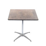 30x30 Square Pedestal Table Plywood Top