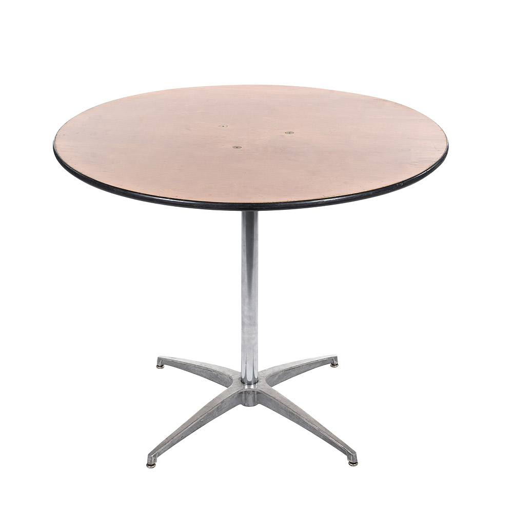 "36"" Round Pedestal Table Plywood Top"