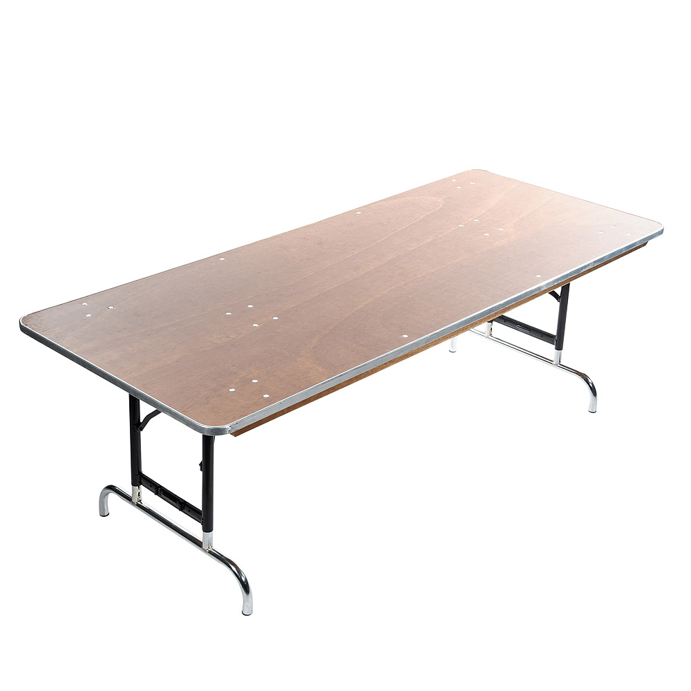 "30"" x 72"" Plywood Adjustable Height Children's Table"