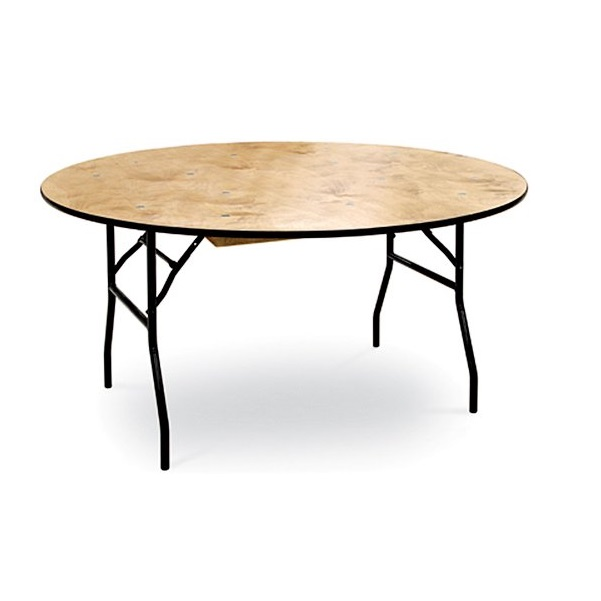 "66"" Round Plywood Table"