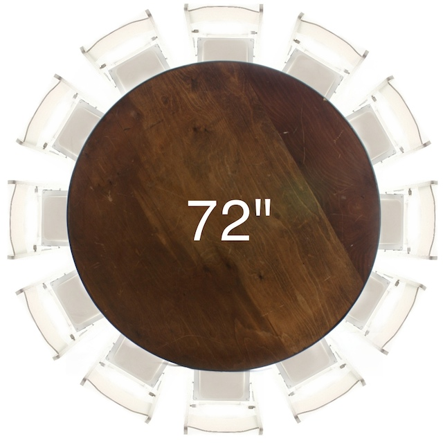 72 Round Plywood Table American Party Rentals