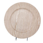 Birch Faux Wood Charger