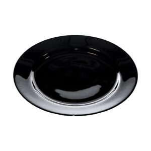 Black China 12 Inch Plate