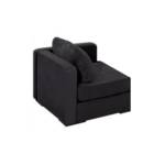 Black Microsuede Lovesac Corner Chair
