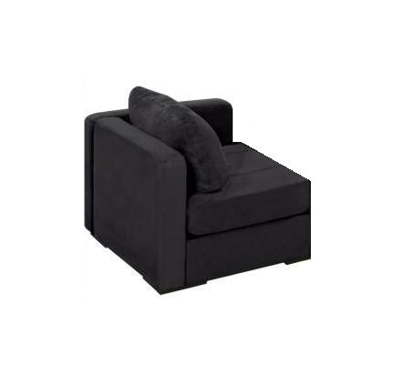 Gentil Black Microsuede Lovesac Corner Chair