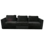 Black Microsuede Lovesac Sofa