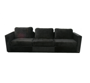 Black Microsuede Lovesac Sofa