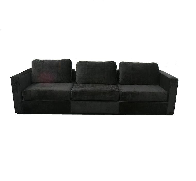 black microsuede lovesac sofa - Lovesac Sofa