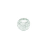 Clear Faceted Round Votive