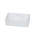 Frosted Glass Rectangular Bowl