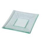 Glass 6 Inch Square Plate
