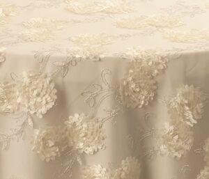Ivory Rose Applique