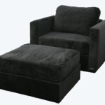 Lovesac Black Armchair with Ottoman