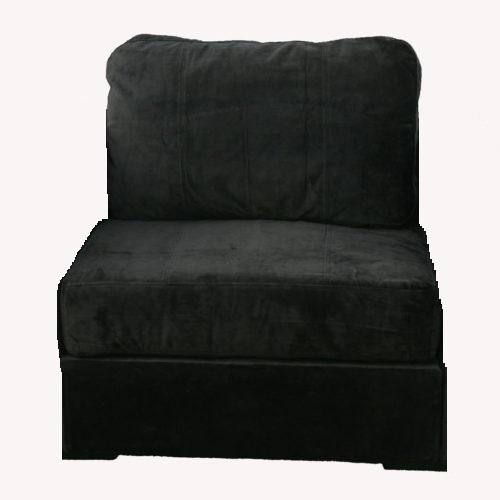 Black Microsuede Lovesac Chair (No Arms)