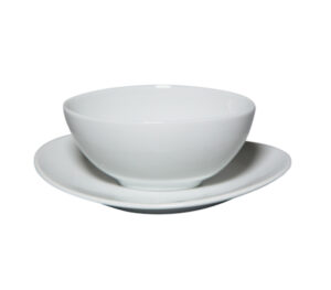 Oval Bowl with Saucer