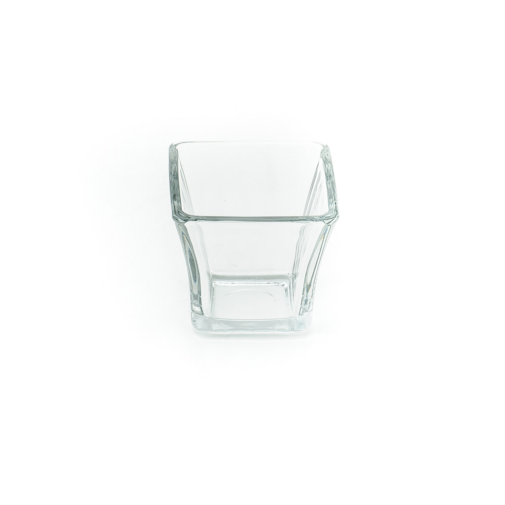 Square 3 Inch Clear Flaired Votive