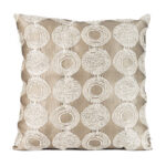 Taupe Circle Lounge Pillow