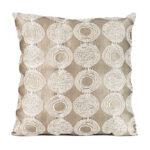Taupe Circle Lounge Pillow