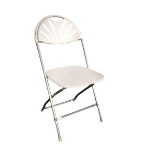 White Fanback Chair