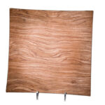 Wood Veneer Square Charger