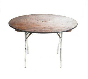 "60"" Round Plywood Table with Hole"