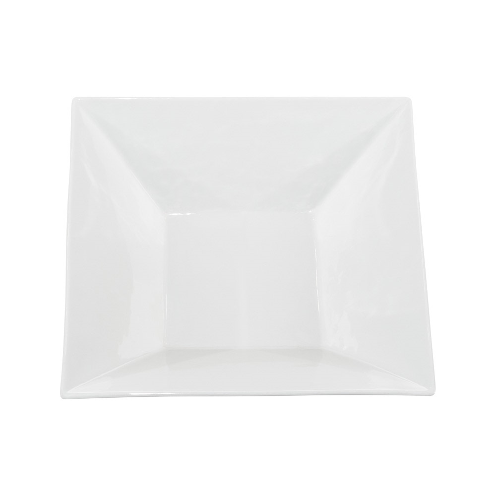 10 Inch White China Square Platter