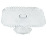 12 Inch Square Glass Cake Riser