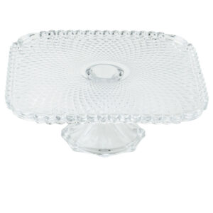 12 Inch Square Glass Cake Riser