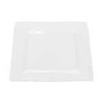 12 Inch White China Square Platter