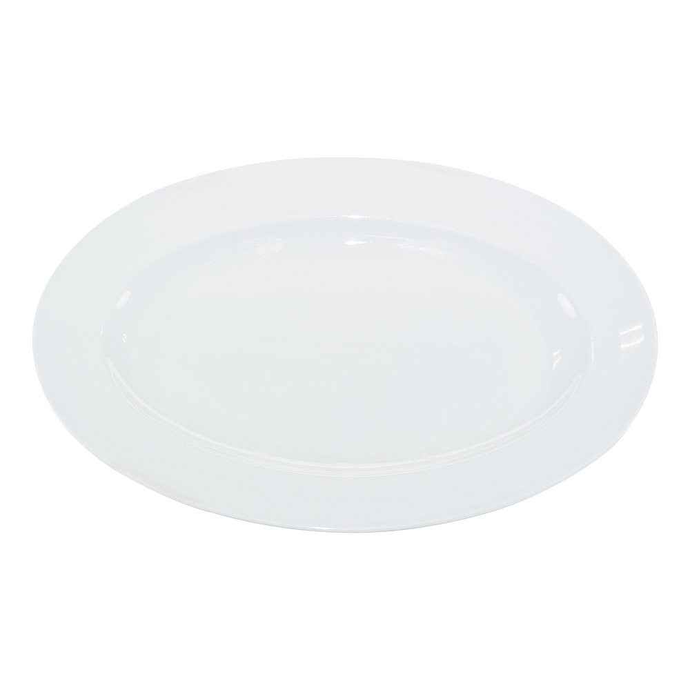 14 Inch White China Oval Platter