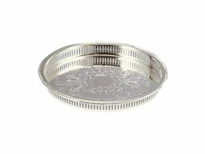 15 Inch Silver Gallery Tray