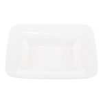 16 Inch Large White Square Bowl
