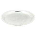 16 Inch Round Silver Tray