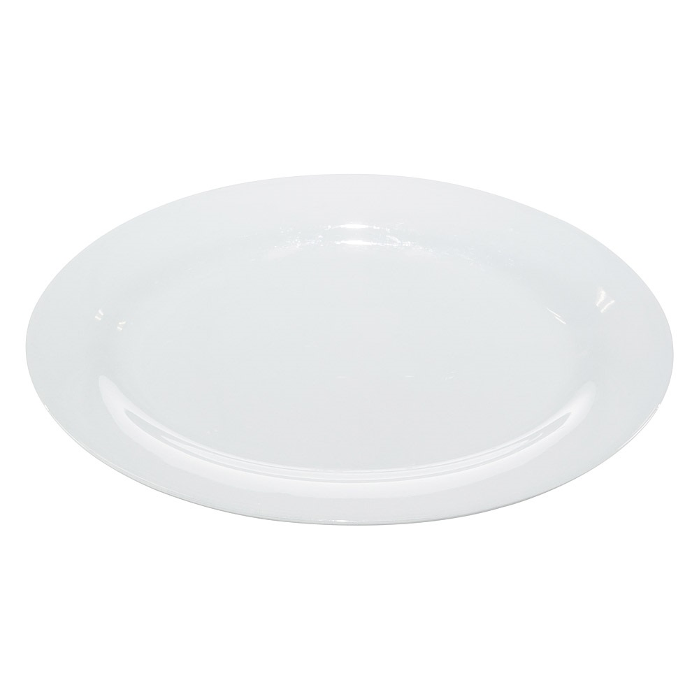 16 Inch White China Oval Platter