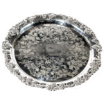 17 Inch Round Silver Tray