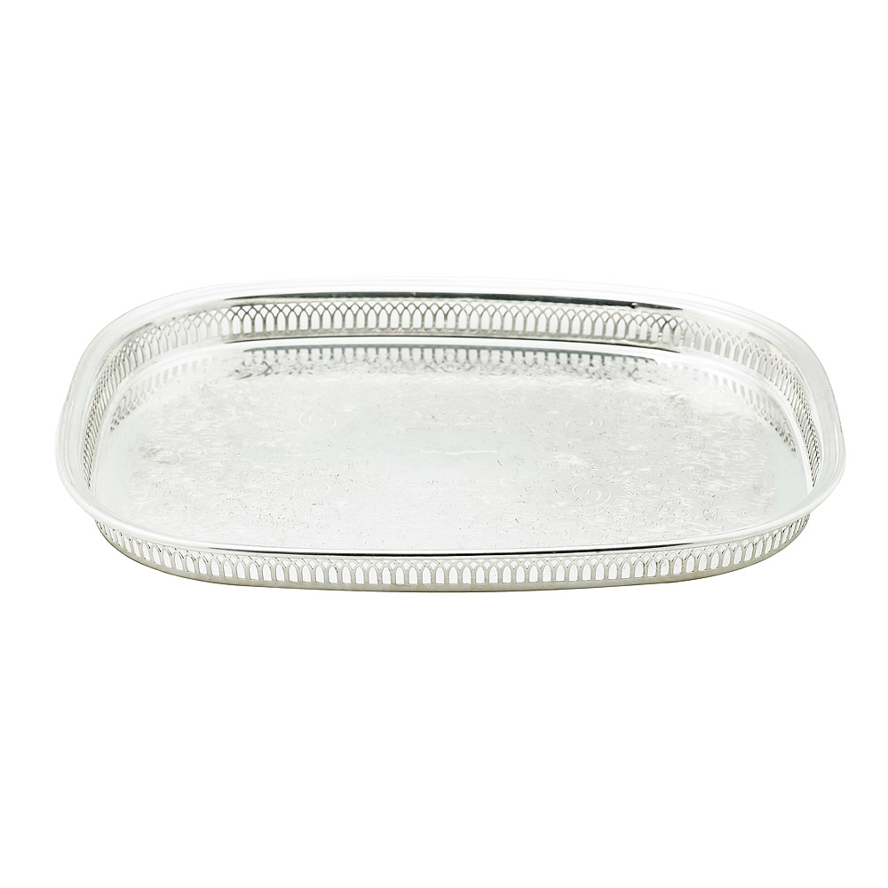 18 Inch Oval Gallery Tray