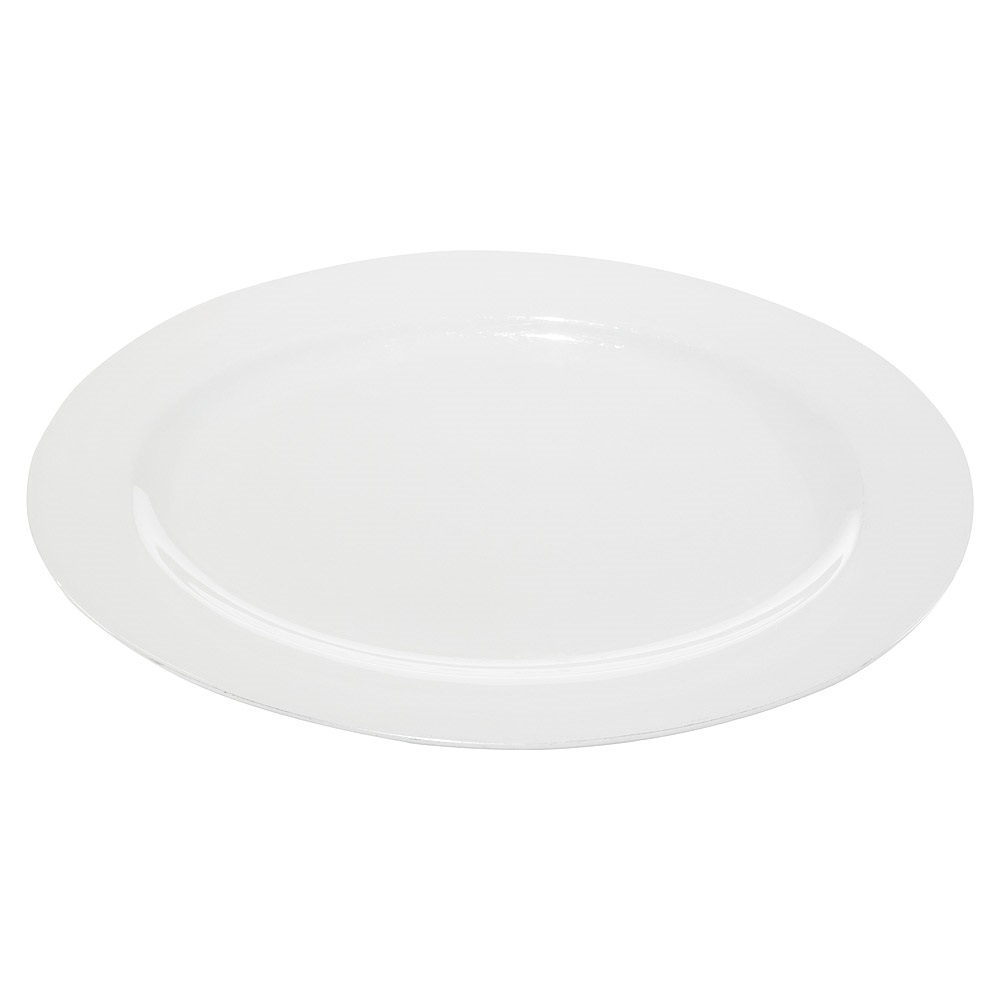 18 Inch White China Oval Platter