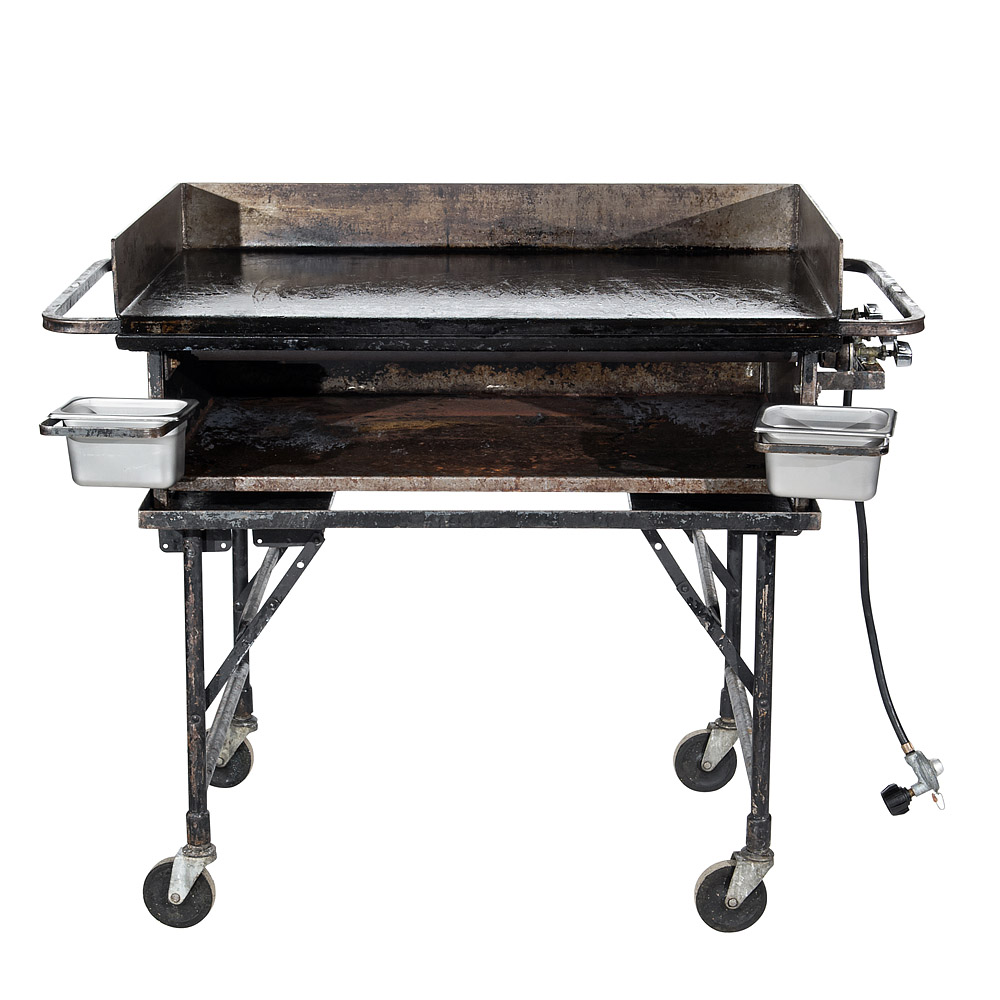 2' x 3' Propane Griddle with Stand