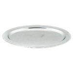 22 Inch Oval Silver Tray