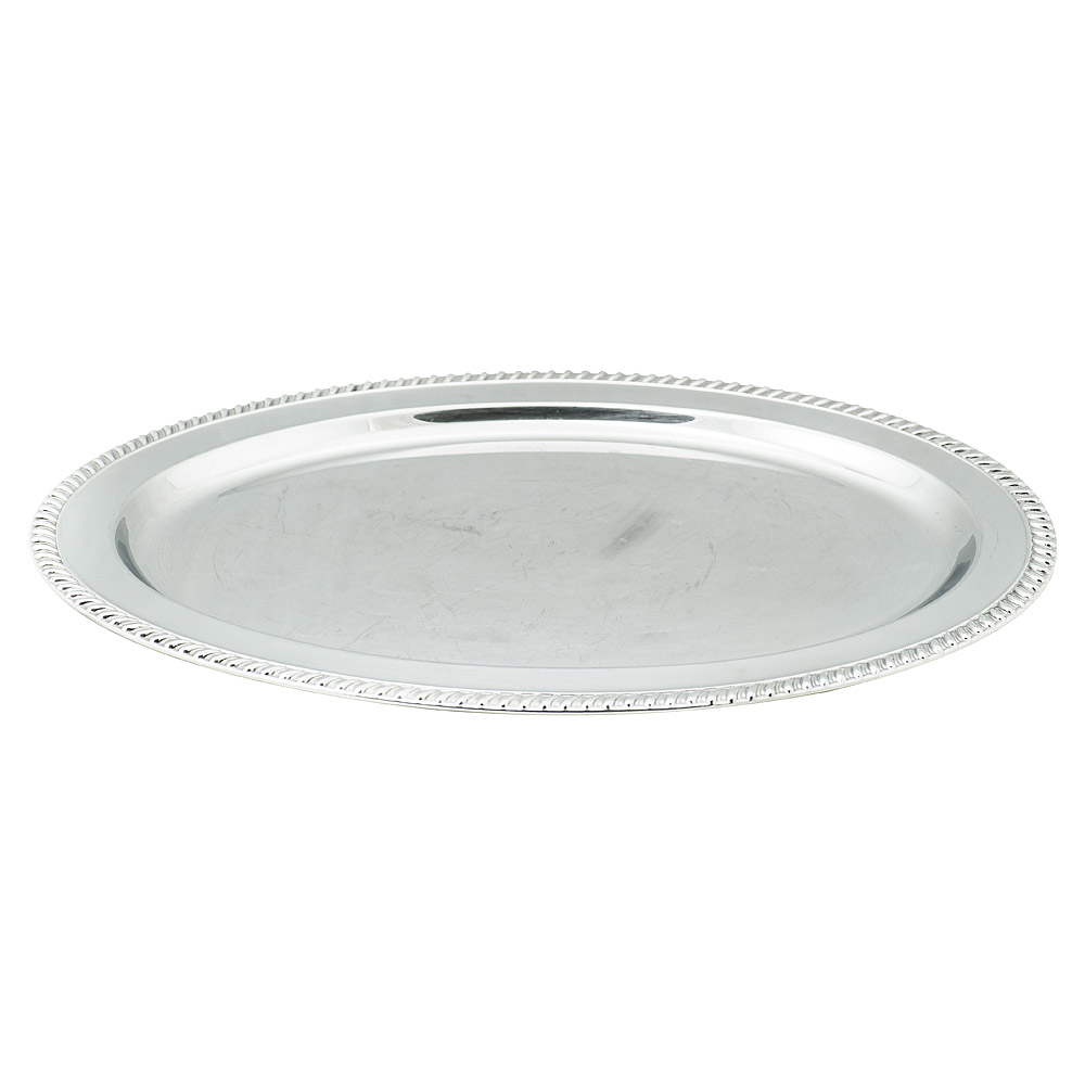 22 Oval Silver Tray American Party Rentals