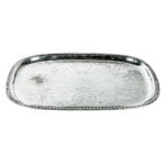 23 Inch Oblong Silver Tray