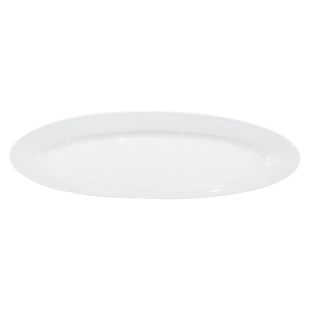 24 Inch White China Narrow Oval Platter