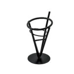 Black Iron Fry Cone Basket