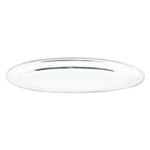 Large Oval Silver Plate Fish Tray